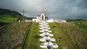 Chapel White Church Azores Sao Miguel Portugal.