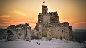 Mirow castle in Poland. One of the medieval castle on the Trail of the Eagles Nests in Poland royalty free stock images