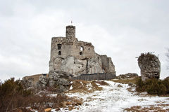 Mirow Castle. 14th-century castle, now ruined, located on touristic route -  so called road of Eagles nests Royalty Free Stock Photography