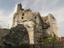 Mirow knight's castle ruins in the Jura Cracow Czestochowa Royalty Free Stock Photos