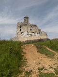 Mirow knight's castle ruins in the Jura Cracow Czestochowa Royalty Free Stock Photo