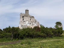 Mirow knight's castle ruins in the Jura Cracow Czestochowa Stock Photography