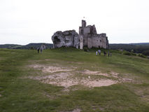Mirow knight's castle ruins in the Jura Cracow Czestochowa Stock Images