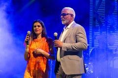 Mirri-Lobo und Cuca Roseta, Kap-Verde Kriol Jazz Festival lizenzfreie stockfotografie