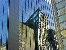 Mirroing Business Skyscrapers Stock Image