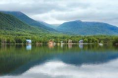 Mirror湖阿拉斯加 免版税库存图片