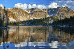 Mirror湖,斯诺伊范围,怀俄明 库存照片
