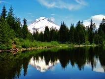 Mirror湖(汤姆、迪克和哈里足迹) 库存照片