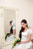 By a mirror Royalty Free Stock Photo