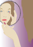 Mirror. A woman looking in a mirror vector illustration