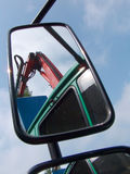 Mirror. Detail of car mirror on sunny day Royalty Free Stock Images