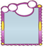 Mirror. A mirror with a attractive frame in a white background Stock Photo