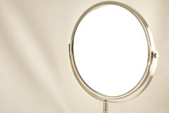 Mirror. Bright, moder mirror for make-up Royalty Free Stock Photography
