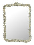 Mirror. With detailed frame isolated on a white background stock image