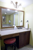 Mirror above bathroom vanity Royalty Free Stock Images