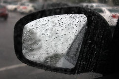 Mirror. Automobile rear view side mirror Royalty Free Stock Images