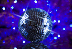 Mirror ball. And disco background Royalty Free Stock Photos