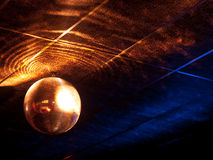 Mirror ball. Under the ceiling of a night club Stock Image