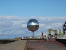 Mirror Ball. On Blackpool promenade Royalty Free Stock Photography