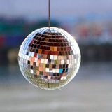 Mirror ball at daylight stock photos