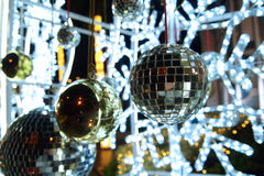 Mirror ball. Decoration in festivals Royalty Free Stock Image