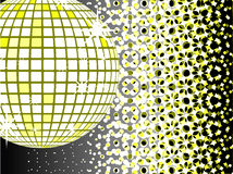 Mirror ball disco. A very useful thing royalty free illustration