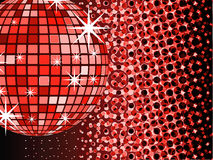 Mirror ball disco. A very useful thing vector illustration