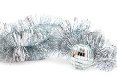 Mirror ball and garland Royalty Free Stock Photography