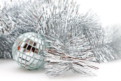 Mirror ball and the garland Stock Photography