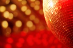 Mirror ball lights. Disco background Stock Photo