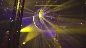 Mirror ball rolling in the night club stock video footage