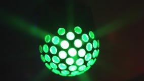 Mirror ball rolling in the night club stock video