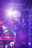 Mirror ball rolling in the night club Stock Photo
