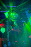 Mirror ball rolling in the night club Royalty Free Stock Photography