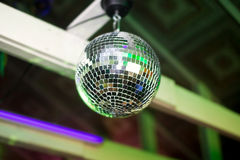 Mirror ball rolling in the night club Stock Photography