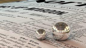 Mirror balls 3D Stock Image