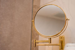 Mirror. A mirror in a bathroom Royalty Free Stock Photography