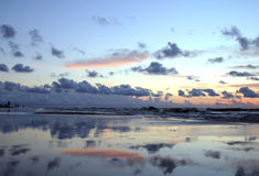Mirror beach Stock Images