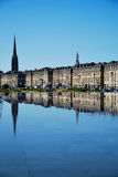 Mirror of Bordeaux. Tourism in Bordeaux in France stock photos