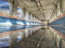 Mirror of bridge stock photo