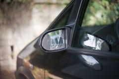 Mirror. Broken car vehicle accident damaged part Stock Image