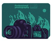 Mirror camera on a background royalty free illustration