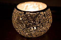 Mirror candle in the dark Royalty Free Stock Photos