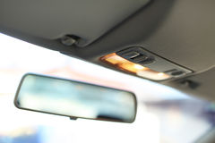 Mirror in car Royalty Free Stock Photo