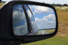 Mirror of a car Stock Photos