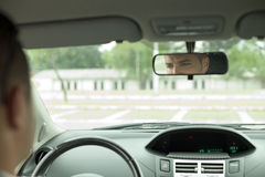 Mirror in the Car Royalty Free Stock Photography