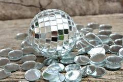 Mirror christmas ball Royalty Free Stock Image