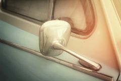 Mirror on classic car Royalty Free Stock Image