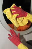 Mirror cleaning Royalty Free Stock Images