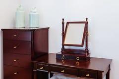 Mirror corner. In ded room  interior Stock Photography